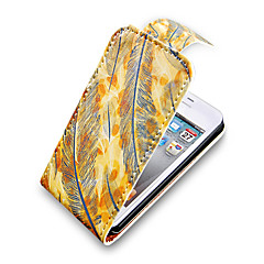 Plume Up-Down Turn Over cas Bady complet PU en cuir pour iPhone 4/4S