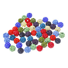 Fashion Round Shape Multicolor Crystal DIY Beads 50pcs