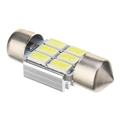 Festoon 2W 6x5730SMD 140LM 6000K Cool White Light LED Bulb for Car (DC 12V,31mm,1pcs)