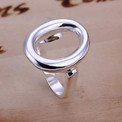 Ring Adjustable Wedding / Party / Daily / Casual / Sports Jewelry Copper / Silver Plated Statement RingsAdjustable Silver