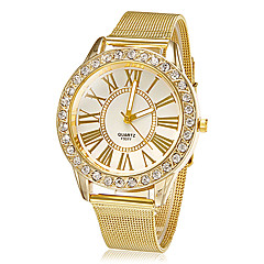 Dames Dress horloge Kwarts Legering Band Glitter Goud Merk-