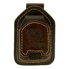 Zippo cuir brun pétrole léger Case
