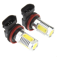 H8 6W 4-LED 480LM 6000K Cool White Light LED Bulb for Car (10-24V,2 pcs)