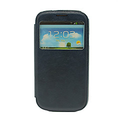 Quality Sleep/Wake Up PU Full Body Case with Call Display Window for Samsung Galaxy S3 i9300