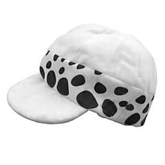 Şapka/Başlık Esinlenen One Piece Trafalgar Law Anime Cosplay Aksesuarları Şapka Beyaz / Siyah Polyester Erkek
