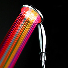 ABS Water Color Desarrollado LED Ducha Cambio de mano