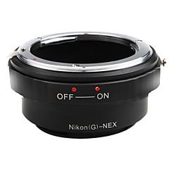 EMOLUX Nikon AF (G) Montáž objektivu Sony NEX-7 NEX-5 NEX-3 NEX5 NEX3 NEX-VG10 adaptér
