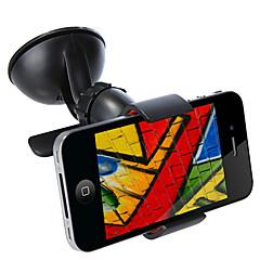 Pára-brisa Universal 360 Rotating carro montar titular suporte Telefone Suporte para tablet iPhone GPS Acessórios Black / White