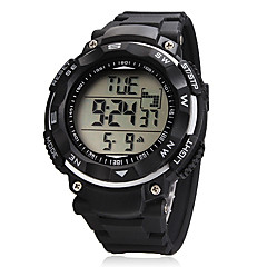 Unisex Big Dial LCD Digital Rubber Band Wrist Watch (Assorted Colors) Cool Watch Unique Watch