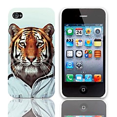 Cool Tiger Pattern Hard Case with 3-Pack Screen Protectors for iPhone 4/4S