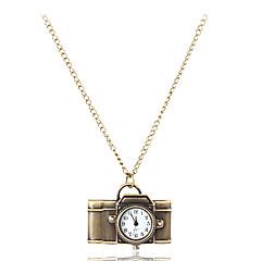 Women's Camera Style Vintage Alloy Quartz Necklace Watch