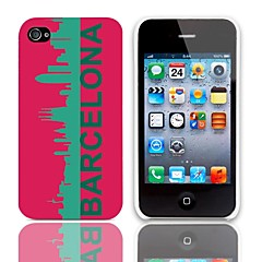 Barcelona Pattern Hard Case with 3-Pack Screen Protectors for iPhone 4/4S