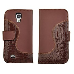 Crocodile PU Leather Wallet Stand Flip Taske til Samsung Galaxy S4 i9500