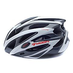 MOON Cycling hvid + sort PC + EPS 25 Vents MTB sikkerhedshjelm