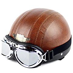 hochwertige Motorradhalbhelm mit Schutzbrille