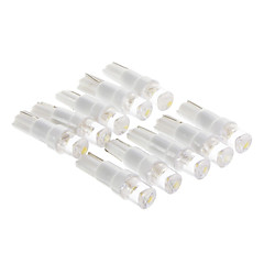 T5 0.15W 1-LED 10LM 3000K Warm White Light Bulb LED per auto (12V, 10 pc)