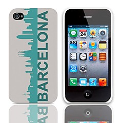 Special Design Barcelona Pattern Hard Case with 3-Pack Screen Protectors for iPhone 4/4S