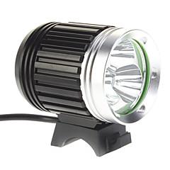 4-Mode 3xCree XM-L T6 LED sykkel lommelykt / hodelykt (3000LM, 4x18650, Black)