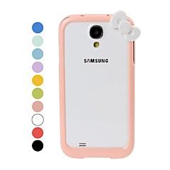Cartoon Bow Pattern Bumper Frame for Samsung Galaxy S4 i9500