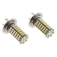 H7 7W 102x3020SMD 570LM 5500-6500K Cool White Light LED-Birnen für Auto (12V)