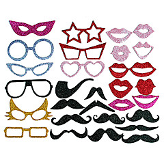 Photography Photo Props Funny Mask for Wedding Party(50 PCS)