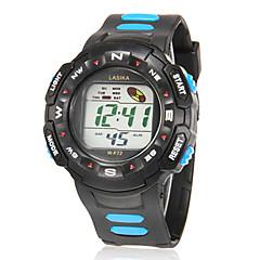 Bărbați Ceas Sport Piloane de Menținut Carnea LCD / Calendar / Cronograf / alarmă Cauciuc Bandă Albastru / Roșu / Yellow Marca-