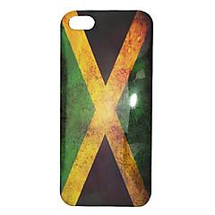 Style vintage drapeau de la Jamaïque Motif ABS arrière pour l'iPhone 5/5S