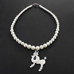 Collares para Perros Blanco / Plateado Primavera/Otoño Plástico