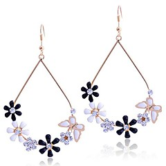 Lureme®Enamel Flowers and Butterfly Earrings
