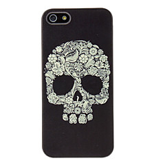 Flora Esqueleto Forma Hard Case para iPhone 5/5S PC