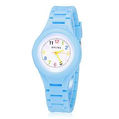 Dames Modieus horloge Polshorloge Vrijetijdshorloge Kwarts Band Vintage Blauw Rood Groen Roze Geel Merk