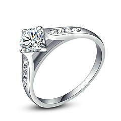 Classic Finger Ring for Lady Clear Simulated Diamond Ring