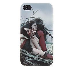 Swordswoman Sitting beside the Beach Pattern Matte Designed PC Hard Case for iPhone 4/4S
