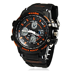 Miesten Multi-Function Round Dial Analog-Digital rannekelloa (Assorted Colors)