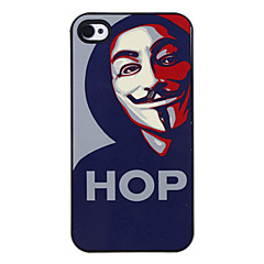 Hop Man Pattern Aluminous Hard Case for iPhone 4/4S