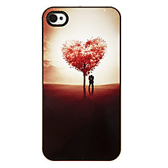 Tree of Love Shaped Pattern Aluminous Hard Case for iPhone 4/4S