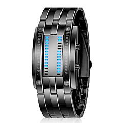 ZGO Unisex Black Dial banda de metal Quartz Analógico Resistente à água relógio de pulso esporte
