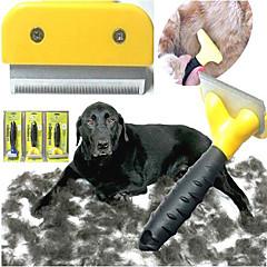 herramientas de pelo y piel preparación para mascotas (amarillo, l)