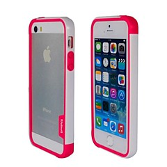 Mode New Double couleur TPU Bumper Frame pour iPhone5S (Rose + Blanc)