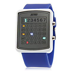 Unisex Creativo Digit Display LED de colores de goma banda reloj de pulsera (colores surtidos)