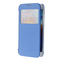 Skylight Pattern PU Leather Face ja Transparent Takakansi Full Body Case for Samsung Galaxy S5 I9600
