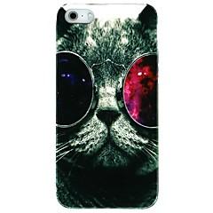 cat vormor® com óculos padrão de volta caso capa para o iPhone 5 / 5s