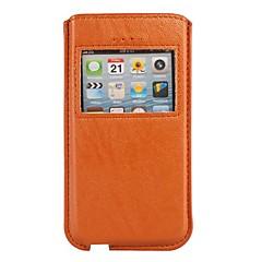 Caller exibição capa de couro Bolsa para iPhone 5/5S