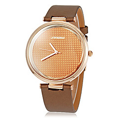 Unisex Simle Round Dial Pu Band Quartz Analog Wrist Watch (Assorted Colors)