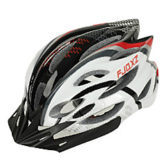 FJQXZ Unisex Outdoor PC + EPS 22 Vents Black + Red Cykling Hlemets
