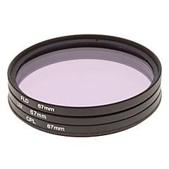 CPL + UV +フィルターバッグ(67ミリメートル)でカメラ用に設定しFLDフィルター