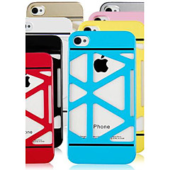 Solid Color  Skeleton Hard Case for iPhone4/4S(Assorted Color)