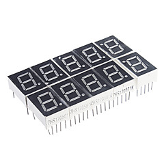 10-Pin 7-Segment Red LED Display Κοινή καθοδικών (10 PCS)