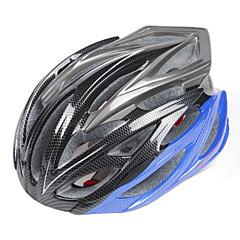 FJQXZ Unisex PC+EPS 24 Vents Black+Blue Cycling Hlemets