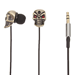 TM01 Skull-Shaped Stereo In-Ear Headphone (Guld)